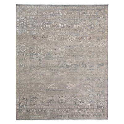Gisella Hand-Knotted Brown Area Rug Rug Size: Rectangle 14 x 18