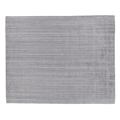 Robin Hand-Woven Silk Charcoal Area Rug Rug Size: Rectangle 10 x 14