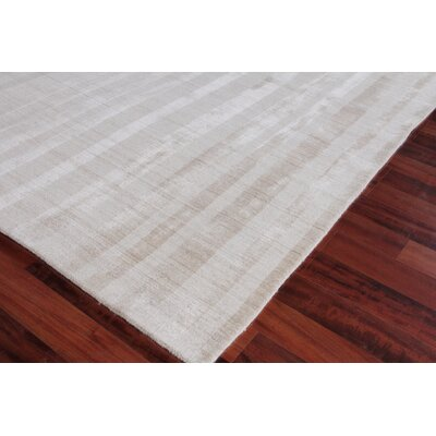 Robin Hand-Woven Light Beige Area Rug Rug Size: Rectangle 6 x 9