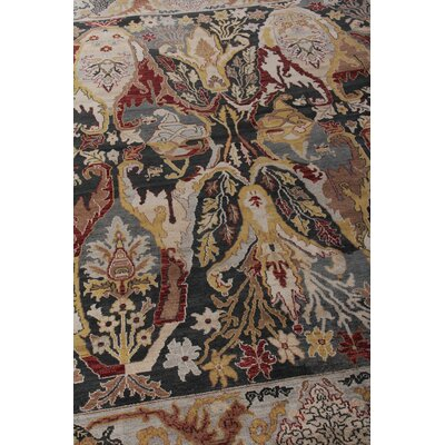 Jurassic Hand-Knotted Wool Black/Beige Area Rug Rug Size: Rectangle�8 x 10