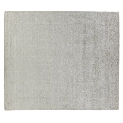 Iris Hand-Knotted Silver Area Rug Rug Size: Rectangle 12 x 15
