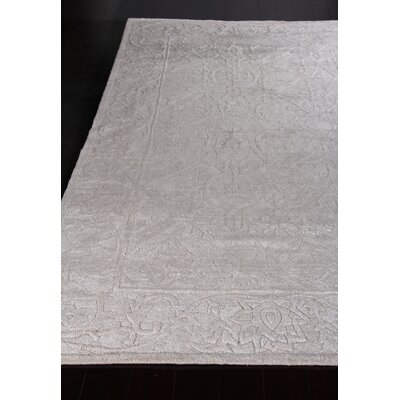 Iris Hand-Knotted Silver Area Rug Rug Size: Rectangle�6 x 9