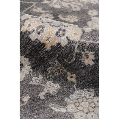Museum Hand-Knotted Silk Midnight Blue Area Rug Rug Size: Rectangle�9 x 12