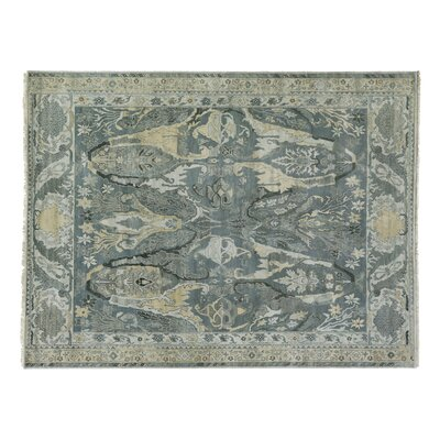 Jurassic Hand-Knotted Wool Gray/Beige Area Rug Rug Size: Rectangle 14 x 18