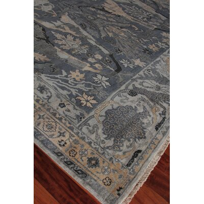 Jurassic Hand-Knotted Wool Gray/Beige Area Rug Rug Size: Rectangle�10 x 14
