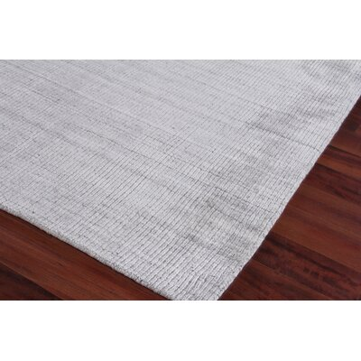 Robin Hand-Woven Silver Area Rug Rug Size: Rectangle 12 x 15