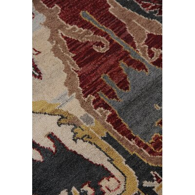 Jurassic Hand-Knotted Wool Black/Beige Area Rug Rug Size: Rectangle�10 x 14