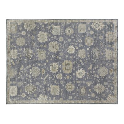 Museum Hand-Knotted Midnight Blue Area Rug Rug Size: Rectangle 14 x 18
