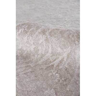 Iris Hand-Knotted Silver Area Rug Rug Size: Rectangle�10 x 14