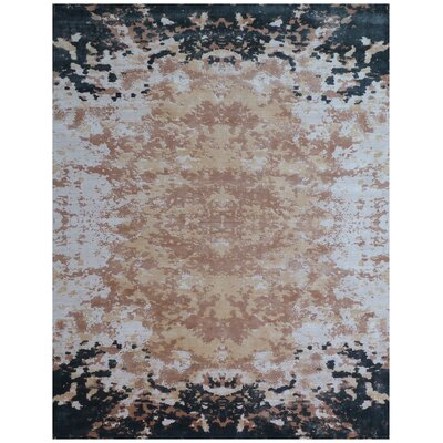 Koda Hand-Woven Ivory/Black Area Rug Rug Size: Rectangle 9 x 12