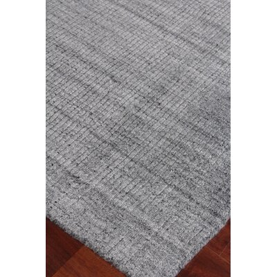 Robin Hand-Woven Silk Charcoal Area Rug Rug Size: Rectangle 8 x 10