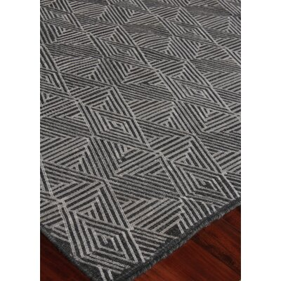 Pavillion Hand-Woven Wool Charcoal Area Rug Rug Size: Rectangle 9 x 12
