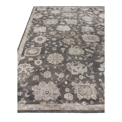 Museum Hand-Knotted Silk Midnight Blue Area Rug Rug Size: Rectangle�6 x 9
