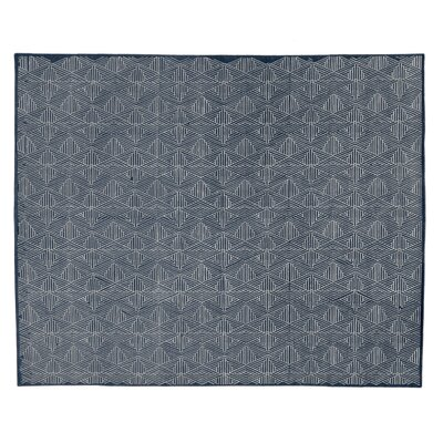 Pavillion Hand-Woven Wool Navy Area Rug Rug Size: Rectangle 9 x 12