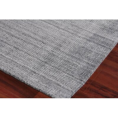 Robin Hand-Woven Silk Charcoal Area Rug Rug Size: Rectangle 12 x 15