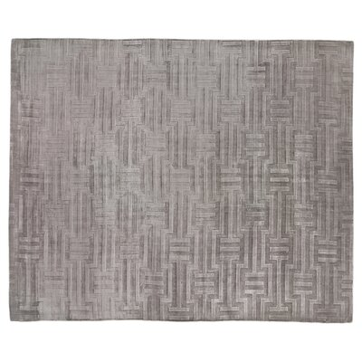 Smooch Carved Hand-Woven Gray Area Rug Rug Size: Rectangle 12' x 15'