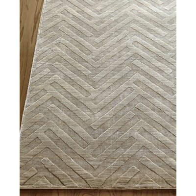 Smooch Carved Hand-Woven Silver Area Rug Rug Size: Rectangle 9 x 12