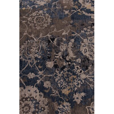 Hundley Hand-Knotted Brown/Blue Area Rug Rug Size: Rectangle�10 x 14