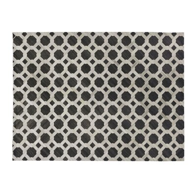 One-of-a-Kind Berlin Hand-Woven Charcoal/White Area Rug