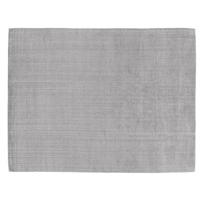 Robin Hand-Woven Silk Gray Area Rug Rug Size: Rectangle 6 x 9