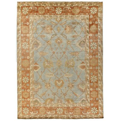 Oushak Hand-Knotted Wool Marine/Brick Area Rug Rug Size: Rectangle 12 x 15