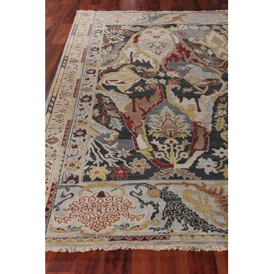 Jurassic Hand-Knotted Wool Black/Beige Area Rug Rug Size: Rectangle�9 x 12