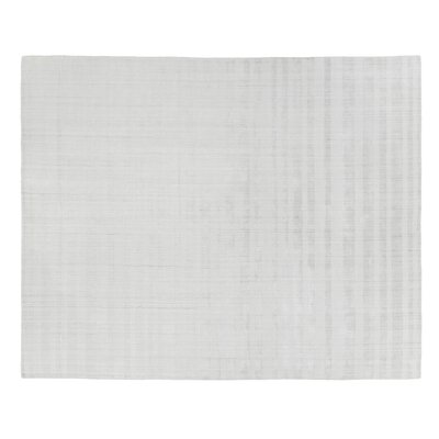 Robin Hand-Woven Silver Area Rug Rug Size: Rectangle 6 x 9