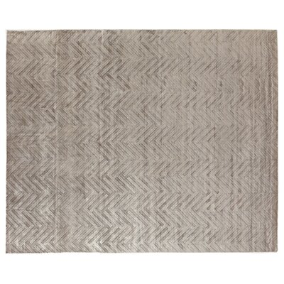 Smooch Carved Hand-Woven Silver Area Rug Rug Size: Rectangle 10 x 14