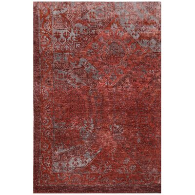 Fine Mamluk Hand-Knotted Silk Red Area Rug