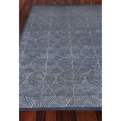 Pavillion Hand-Woven Wool Navy Area Rug Rug Size: Rectangle 8 x 10