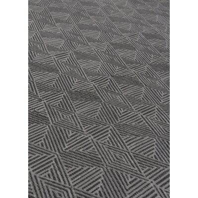 Pavillion Hand-Woven Wool Charcoal Area Rug Rug Size: Rectangle 8 x 10