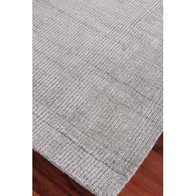 Robin Hand-Woven Silk Gray Area Rug Rug Size: Rectangle 12 x 15
