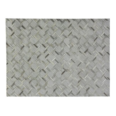 One-of-a-Kind Berlin Hand-Woven Silver/Gray Area Rug Rug Size: Rectangle 116 x 146