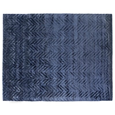 Smooch Carved Hand-Woven Blue Area Rug Rug Size: Rectangle 9 x 12