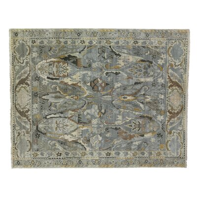 Jurassic Hand-Knotted Wool Gray/Beige Area Rug Rug Size: Rectangle�9 x 12