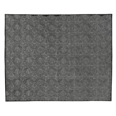 Pavillion Hand-Woven Wool Charcoal Area Rug Rug Size: Rectangle 5 x 8