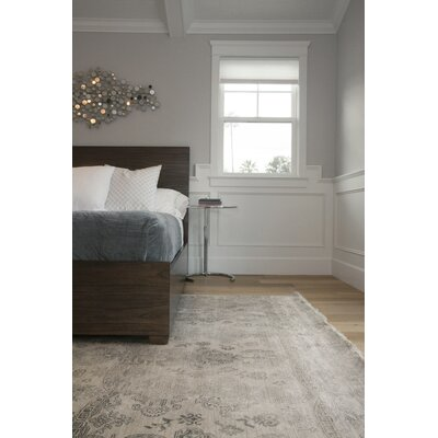 Lisbon Hand-Knotted Ivory Area Rug Rug Size: Rectangle�10' x 14'