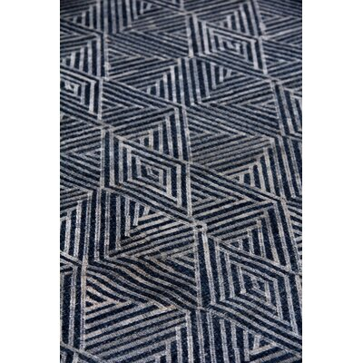 Pavillion Hand-Woven Wool Navy Area Rug Rug Size: Rectangle 12 x 15