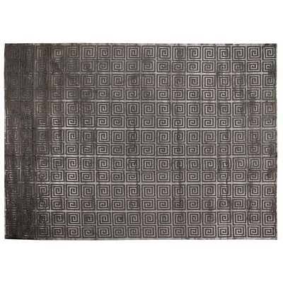 Greco Hand-Knotted Wool Dark Gray Area Rug