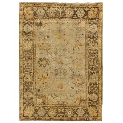 Oushak Hand-Knotted Wool Brown/Gray Area Rug Rug Size: Rectangle�6 x 9