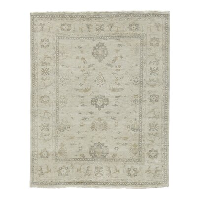 Oushak Hand-Knotted Wool Gray Area Rug Rug Size: Rectangle 14 x 18