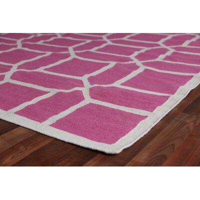 Hand-Woven Wool Fuschia Area Rug