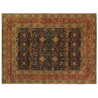 Fine Serapi Hand-Knotted Wool Blue/Red Area Rug