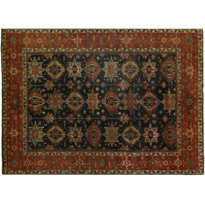 Serapi Hand-Knotted Wool Blue/Red Area Rug