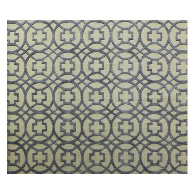 Windsor Hand-Woven Wool Beige/Blue Area Rug Rug Size: Rectangle�6 x 9
