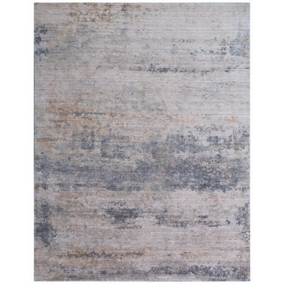 Reflections Hand-Woven Gray Area Rug Rug Size: Rectangle 12 x 15