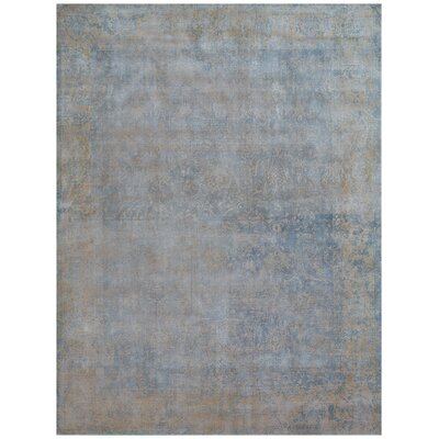 Cassina Hand-Woven Ivory/Blue Area Rug Rug Size: Rectangle 10 x 14