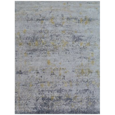 Reflections Hand-Woven Gray Area Rug Rug Size: Rectangle�10 x 14