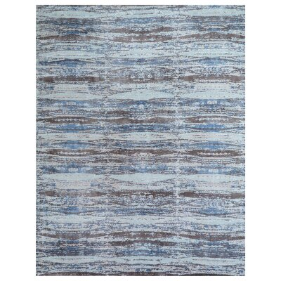 Reflections Hand-Woven Brown/Blue Area Rug Rug Size: Rectangle 8 x 10