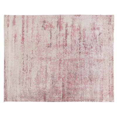 Cassina Hand-Woven White/Pink Area Rug Rug Size: Rectangle 10 x 14
